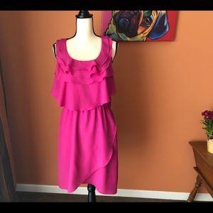 BOSTON PROPER hot pink dress